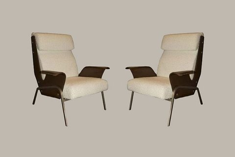 Pair of Alba Lounge Chairs by Gustavo Pulitzer