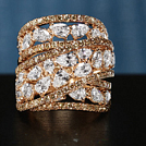 Crivelli: Ring with white diamonds in rose gold 18 kt