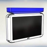 Gets 3106.LCD.R/ LCD Flurdisplayanzeige mit Anzeige von Rufen und Anwesenheiten