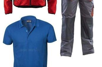 Abbigliamento professionale in cotone, misto e massaua