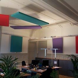 Baffles acoustiques (plafond et mur)