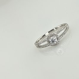 BAGUE OR GRIS & DIAMANT