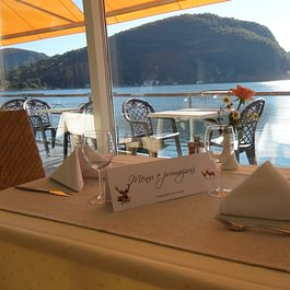 Tresa Bay Hotel - Ristorante, tavolo al lago