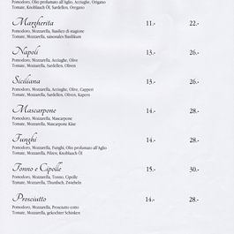 Carta pizze - pagina 1