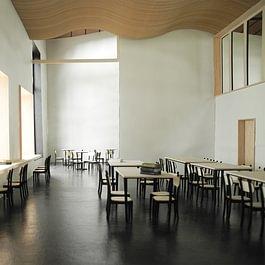 Maison des Grisons - Bibliothèque libre service - salle de lecture