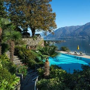 Hotel mit Schwimmbad und Panorama - Ascona - Locarno - Tessin