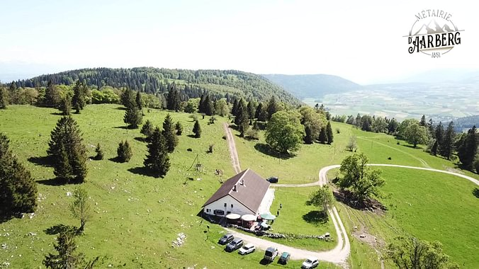 La Métairie d'Aarberg vue aérienne