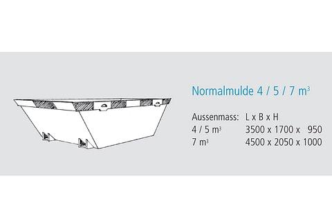 Normalmulde 4 / 7 m3