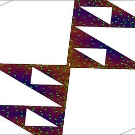 Sierpinksi Dreiecks Antenne - breitbandige Grundstruktur einer planaren Antenne