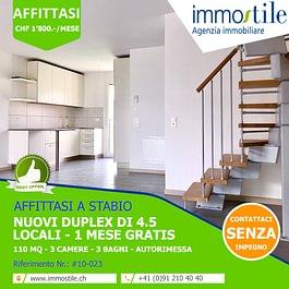 Affittasi a Stabio nuovi appartamenti duplex di 4.5 locali