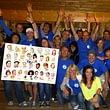 Live-Karikaturen von der ganzen Belegschaft, Teamporträt für Firmen auf einem grossen Poster