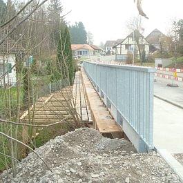 Construction d'un trottoir à Corserey - année 2011 - 2013