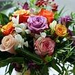 Bouquet de roses multicolores prix 80.- à 150.-