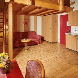 Gallerie-Appartment Wohnbereich, Central Hotel Wolter Grindelwald