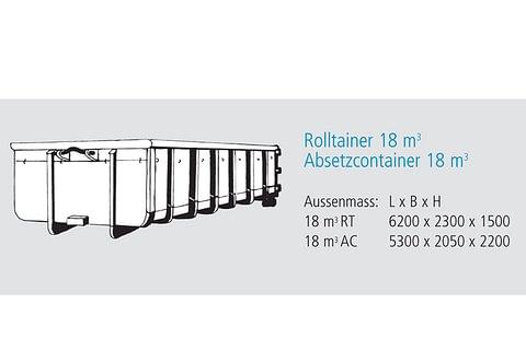 Rolltainer 18 m3 / Absetzcontainer 18 m3