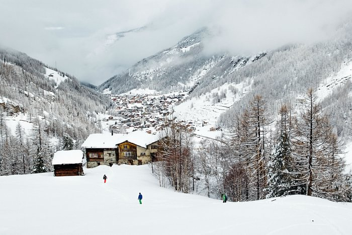 Winter in the Saas valley