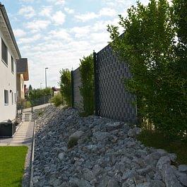 Umgebungsarbeiten gestaltet von der Oberhänsli Bau AG