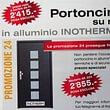 PORTE ENTRATA alluminio termolaccate sumisura PROMOZIONE fino al 31.12.2018 su una vasta scelta di modelli