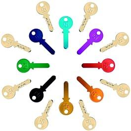 schlussel-kopieren ,farben,. Wir sind in der lage von nahezu jedem originalschlùssel einen Zweitschlùssel anzufertigen,Die gilt auch fùr sicherheits-und schliesanlagen-schlùssel