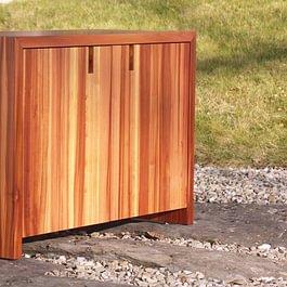 TV-Möbel Zwetschgenholz massiv, natur geölt