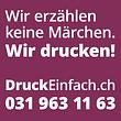 DruckEinfach.ch ist die Online Druckerei für Profis: Flyer, Visitenkarten, Postkarten, Broschüren, Falzflyer, Plakate, Briefpapier, Couvert u.v.m.