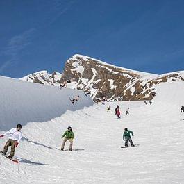 Los Perros Volantes Backdoor Team battle im Snowpark Grindelwald-First