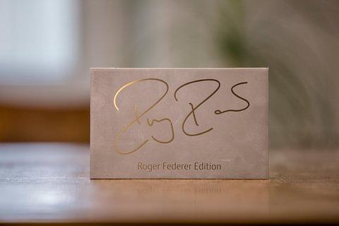 Typenschild Roger Federer Edition