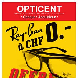OFFRE de la Rentrée : Votre monture RAY BAN offerte à l'achat de deux verres à votre vue Super AR et durcis