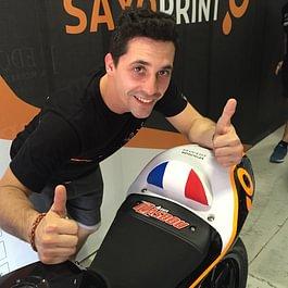Selle drapeau GP pour Alexis Masbou