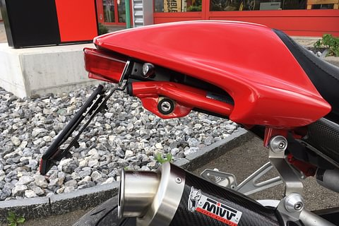 Ducati Monster short number plate holder with DTC certficate