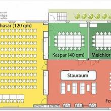 Plan Seminarräumlichkeiten