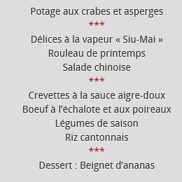 menu cantonnais