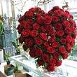 coeur de roses rouges Prix de 350.- à 550.-