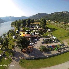 Panoramica Osteria Camping Paradiso Lago Melano