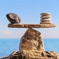 Finden Sie die Balance