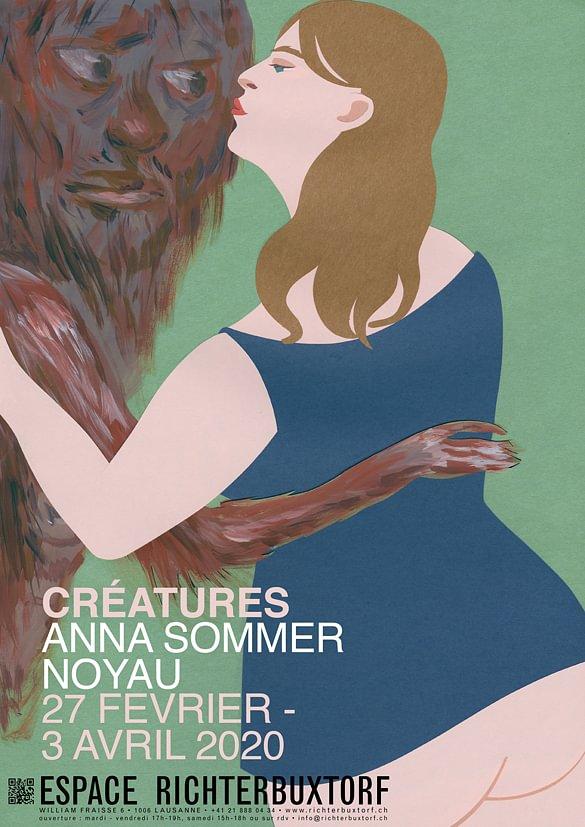 Exposition CREATURES avec les oeuvres de Anna Sommer et Noyau
