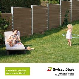 Swissclôture –clôtures et portails pare-vue antibruit.