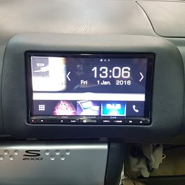 Pose autoradio 2 DIN sur mesure