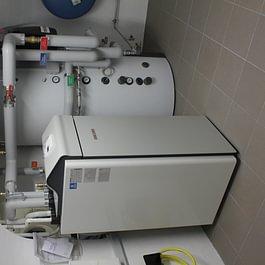 Impianto pompa di calore aria acqua