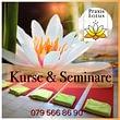 Laufende Kurse & Seminare. Die Kurse und Seminare werden in kleinen Gruppen durchgeführt und sind jeweils auf meiner Homepage ersichtlich.