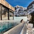 Infinitypool mit Wetterhorn Hotel Spinne Grindelwald