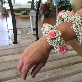Braccialetto velo da sposa roselline