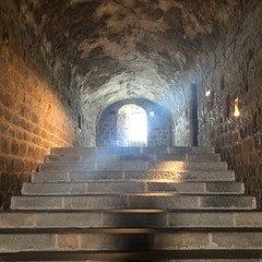 Escaliers à l'intérieur de l'Abbaye du Mont St-Michel