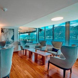 Hotelhalle mit Aussicht - Ascona - Locarno - Tessin