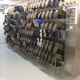 Stiefeltrocknungssystem für 208 Paar