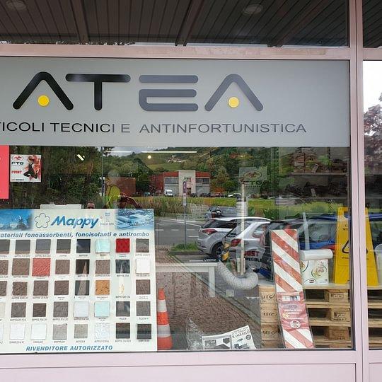 Atea - sede centrale vetrina di Novazzano