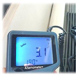 Relevé du flux d'air dans une ventilation