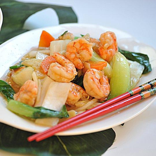 Riz crevettes avec chop-suey