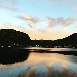 Tresa Bay Hotel - Sonnenuntergang