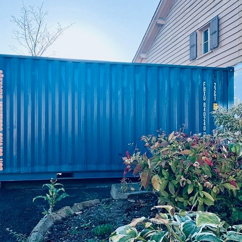 Box type container déposé chez vous le temps des travaux...